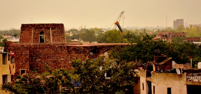 Bijay Mandal, visible from Begumpur Masjid